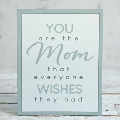 Sentimental Mom Box Sign
