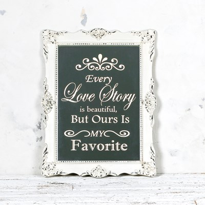 Every Love Story Mirrored Wall Decor