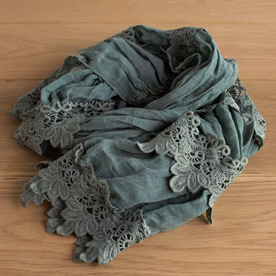 Sage Lace Scarf
