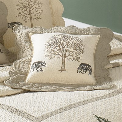 Bear Creek Quilted Pillow by Donna Sharp - Bears