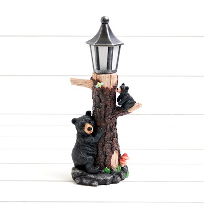 LED Lamp Post with Bears