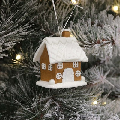 Clay Dough House Ornament