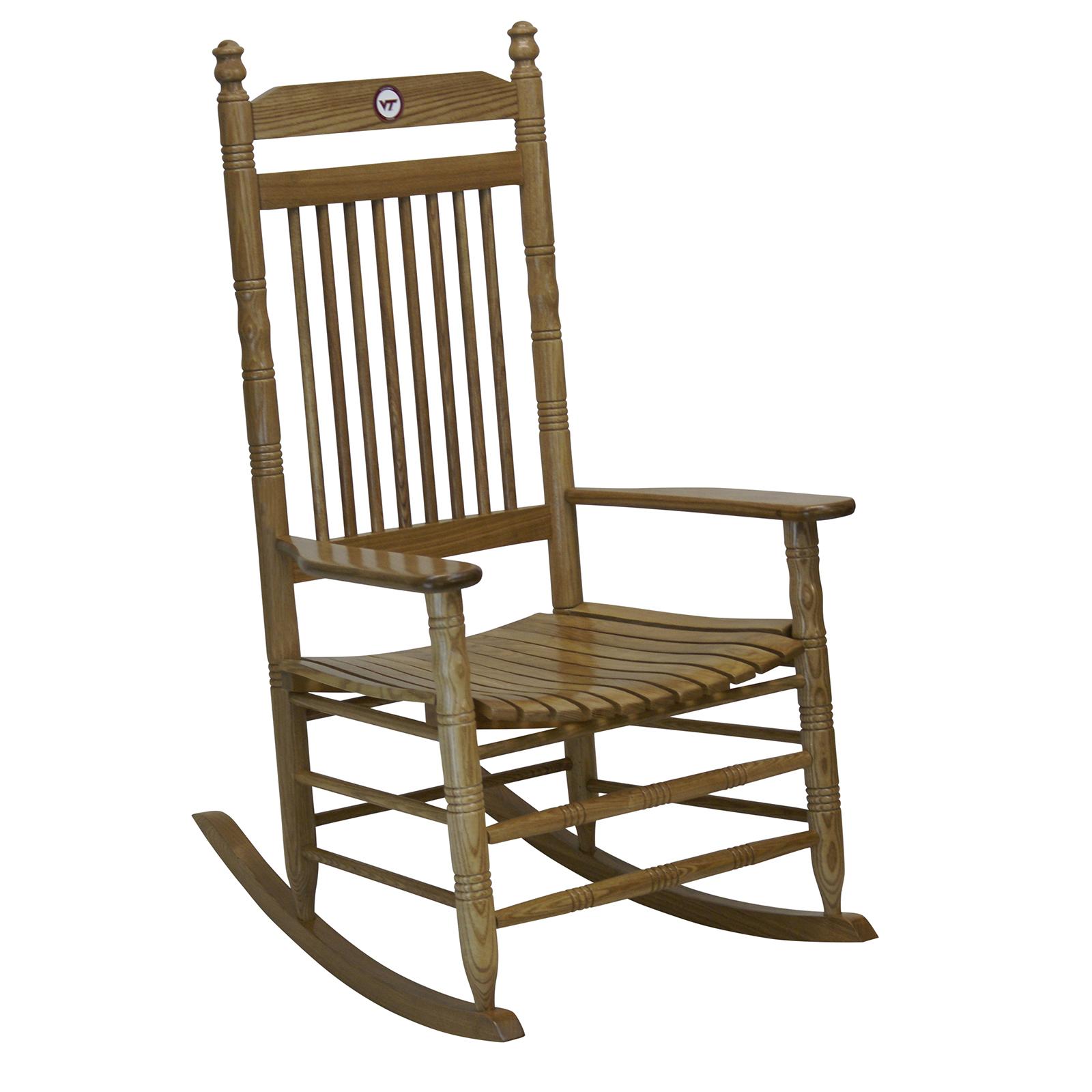 Hardwood Rocking Chair Virginia Tech Home Furniture Er Barrel Old Country