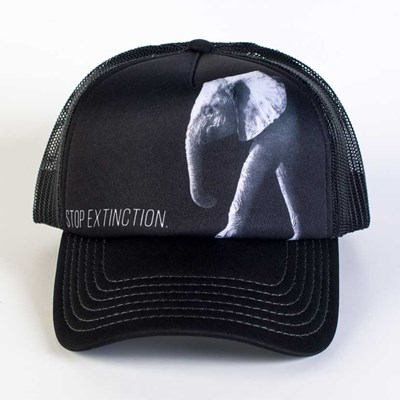 """Stop Extinction"" Elephant Trucker Hat"