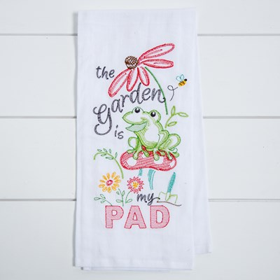Garden Is My Pad Flour Sack Towel