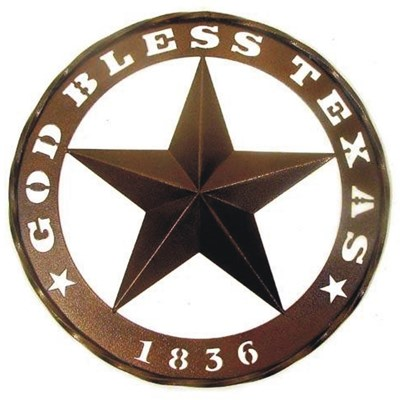 "18"" ""God Bless Texas"" Ring Indoor/Outdoor Decor"