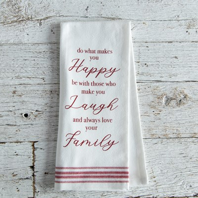 "Oh Gussie! ""Do What Makes You Happy"" Kitchen Towel"