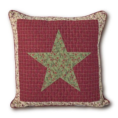 Country Christmas Decorative Pillow -  Star