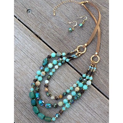 2-Piece Beaded Layered Necklace