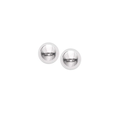 Rhodium Plated Ball Earring