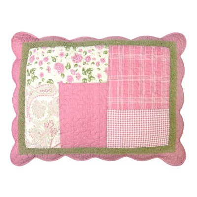 Bashful Rose Quilted Standard Sham by Donna Sharp