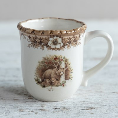 Stoneware Woodland Mug - Bear Family