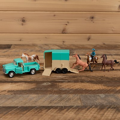 Truck and Trailer Horse Play Set