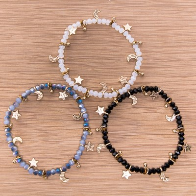 3-Piece Charm Stretch Bracelet