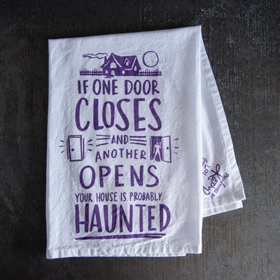 """Probably Haunted"" Dish Towel"