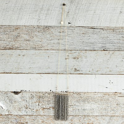 Grey Tassel Bead Necklace