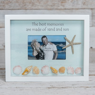 Shell Shadow Box Photo Frame