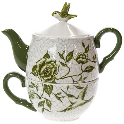 Stoneware Garden Print Tea-for-One Set