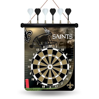 New Orleans Saints Magnetic Dartboard