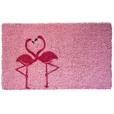 Flamingos Handwoven Coir Doormat
