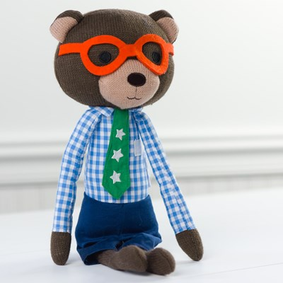 Knitted Plush Bear Doll