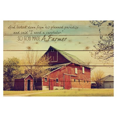 """God Made a Farmer"" Pallet Wall Decor"