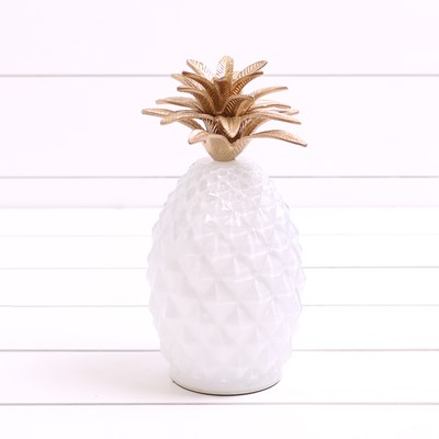 Glass Pineapple with Light