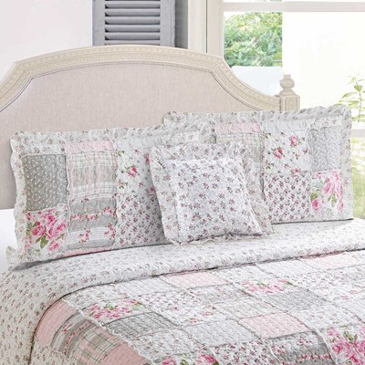 Chelsey Pink Patchwork Sham