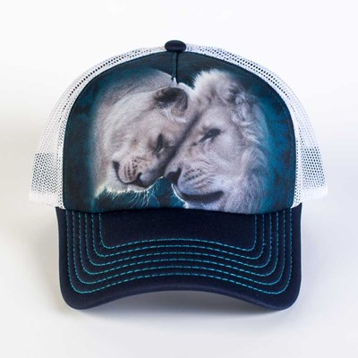 White Lions Love Trucker Hat