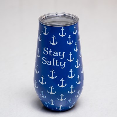 Stay Salty Wine Tumbler - 16 oz.