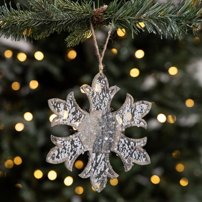 Reflective Snowflake Ornament