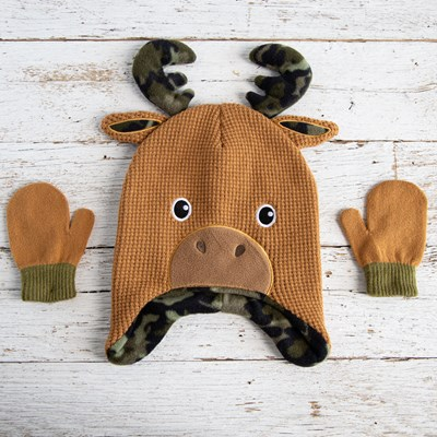 Toddler Moose Hat/Glove Set