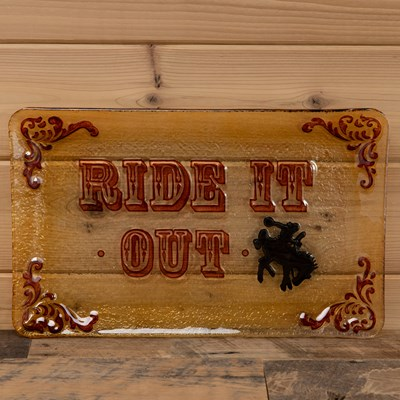 """Ride It Out"" Glass Tray"