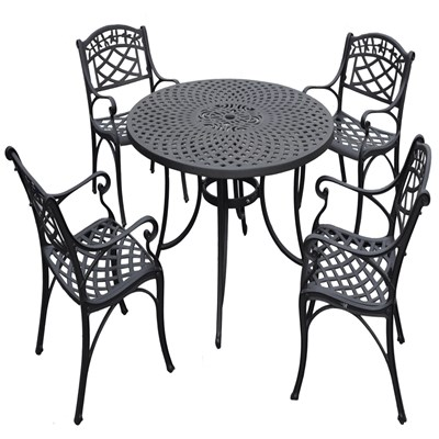 "Sedona 5-Piece Metal 48"" Dining Set"