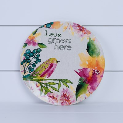 """Love Grows Here"" Salad Plate"