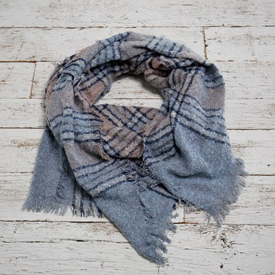 Navy And Pink Blanket Scarf