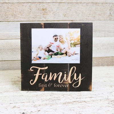 Family Forever Wood Photo Frame