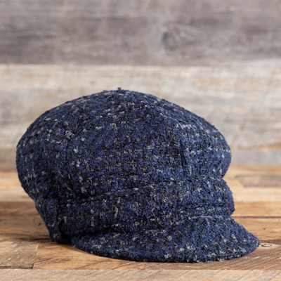 Blue Cabbie Hat
