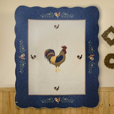 Brunswick Rooster Throw by Donna Sharp