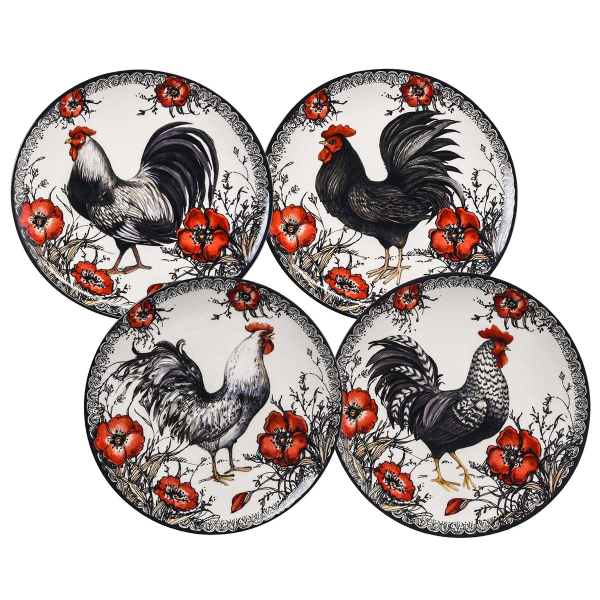 shop.crackerbarrel.com Stoneware Rooster 16-Piece Dinnerware Set - Cracker Barrel Old Country Store  sc 1 st  Cracker Barrel & shop.crackerbarrel.com: Stoneware Rooster 16-Piece Dinnerware Set ...