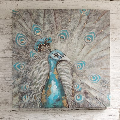 Peacock Oil Painting Canvas