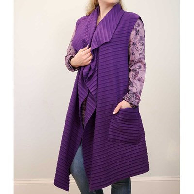 Purple Pleated Vest
