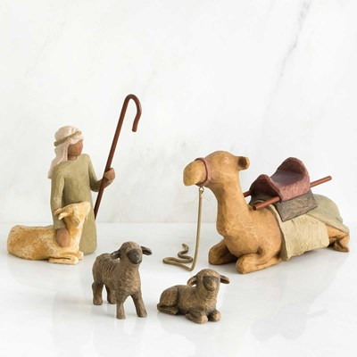 Willow Tree ® Shepherd and Stable Animals Figurines