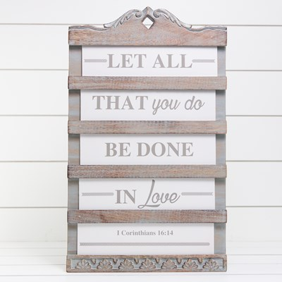 Church Sign Board Wall Decor