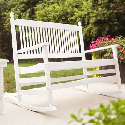 4' Bench with Runners - White