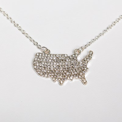 USA Bling Pendant Necklace