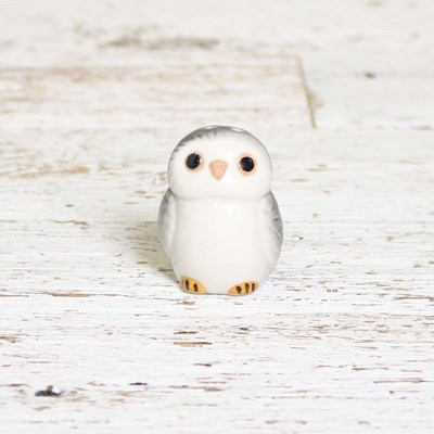 Mini Grey Owl Pepper Shaker