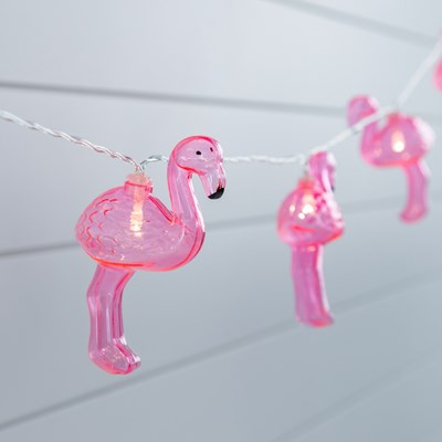 LED Flamingo String Lights - Set of 10