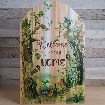 """Welcome To Our Home"" Wall Plaque"