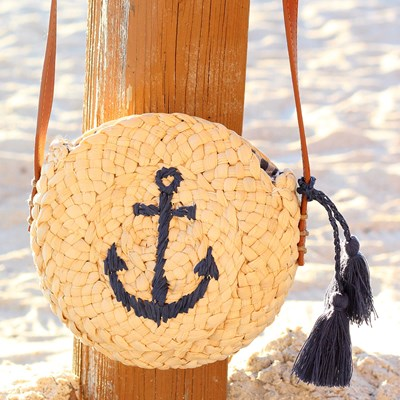 Round Straw Anchor Bag